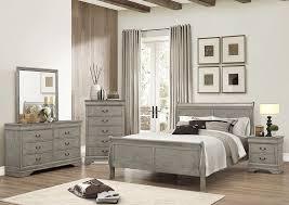 Dresser As Nightstand Quality Furniture Wa Louis Philip Grey Sleigh King Bed W Dresser