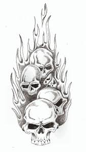 skull flames by thelob on deviantart