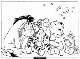 coloring pages tigger kids coloring