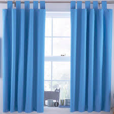 Kid Blackout Curtains Curtains Blackout Curtains For Kids Ardella Blue Plain Tab Top