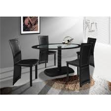 Black Oval Dining Room Table - glass oval dining table buy black glass oval dining table with 4