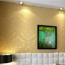 new european vintage luxury damask wall paper embossed textured
