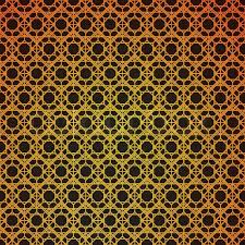 deco wrapping paper gold and black geometric retro abstract seamless cube pattern with