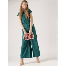 teal jumpsuit buy dressberry teal green solid basic jumpsuit looksgud in