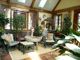 Exotic Interior Design by Interior Comfy Sunroom Design With Exotic Contemporary Rattan