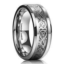 black bands rings images 8mm unisex or men 39 s tungsten wedding band celtic wedding bands jpg
