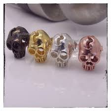 badass earrings men s skull stud earrings kuusteel on artfire