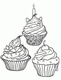 cupcake coloring pages decoration coloringstar