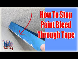 paint bleeding through your masking tape stop paint bleed youtube