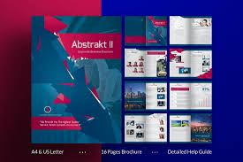one page brochure template 70 modern corporate brochure templates design shack