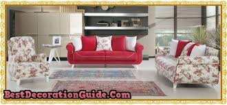 Red Floral Sofa by Spring Atmosphere With Floral Sofa Sets Bestdecorationguide Com