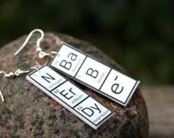 chemist earrings nerdy earrings etsy