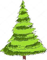 christmas tree cartoon drawing u2014 stock vector mrbenba 36229069