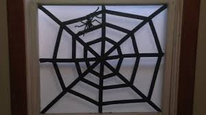 easy spider web halloween decoration craft youtube