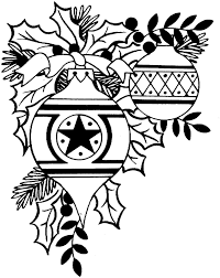 christmas ornament black and white free christmas clip art black