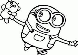 dave minion despicable 2 coloring free coloring