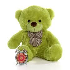 big teddy 30in ace cuddles lime green big teddy teddy
