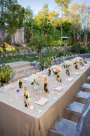Backyard Gold Styling A Glam Engagement Party In Your Backyard Napa Valley
