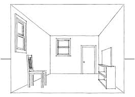 draw room drawing a one point perspective room tutorial