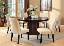 5 pc dining table set havana espresso finish ivory padded chairs round 5 piece dining