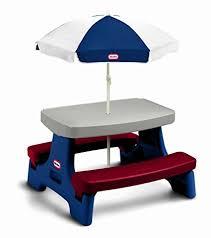 little tikes easy store jr picnic table amazon com little tikes easy store jr play table with umbrella