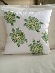 sea turtle coastal zippered throw pillow cushion cover tommy