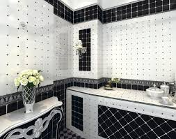 black and white bathroom tile white bathroom with yellow accents