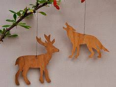 woodland animal ornaments decorative wooden stencils templates