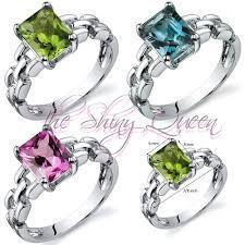 topaz gemstone rings images Opulent chain style gemstone ring peridot london blue topaz or jpg