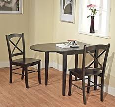 Drop Leaf Dining Room Table by Amazon Com Country Cottage Black Wooden Drop Leaf Dining Room Or