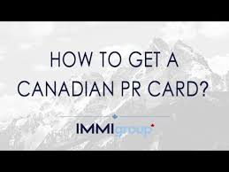 how to get a canadian pr card updated youtube