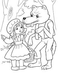 red riding hood coloring pages