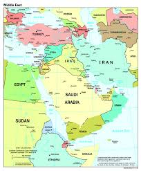 Map Of Israel And Middle East by Midde East Map Big Jpg