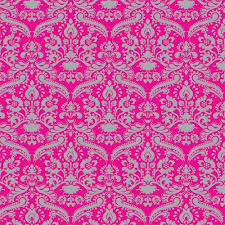 pink wallpaper for walls the dolls house emporium bright pink silver damask wallpaper