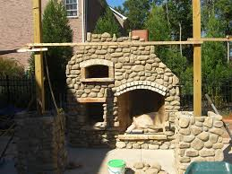 outdoor fireplace and pizza oven outdoor furniture design and ideas