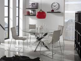 silverado chrome 47 round dining table attractive glass chrome dining table in room decorations legs 2