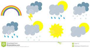 Weather Map Symbols Wather Seasons Forecast Symbols Royalty Free Stock Photos Image