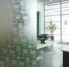 glass wall design furniture cheerful home interior decoration ideas using etched