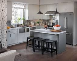 Gray Kitchen Galley Normabudden Com Kitchen Island L Shape Modern White Kitcehn Cabinet And Grey