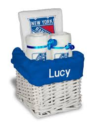 new york gift baskets personalized new york rangers small gift basket nhl baby gift