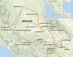 Zacatecas Mexico Map by Colonial Cities Of Central Mexico