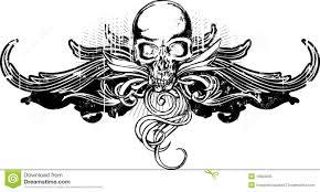 grunge skull ornament stock vector image of bones skeleton