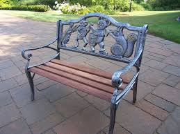 Oakland Living Mississippi Cast Aluminum Oakland Living Animals Cast Iron Garden Decorative Bench With