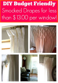 Make Curtains From Sheets Diy Smocked Drapes For Less Than 13 00 Per Window Dio Home