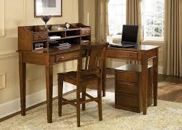 L Shape Wood Desk by L Shaped Brown Wooden Corner Computer Desk Having Shelf And