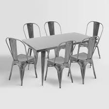 Silver Dining Chairs Metal Farmhouse Dining Table Chairs