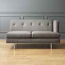 Grey Check Sofa Modern Sofas And Couches Cb2