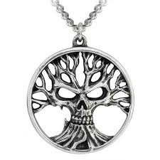 gothik tree of pendant in pewter jewelry
