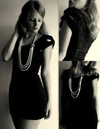 pearls necklace dress images Kirby k free people little black dress pearl necklace lace jpg