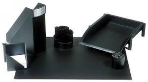 ensemble de bureau set de bureau linear 6 pièces couleur noir ensemble de